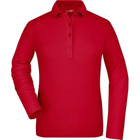 Polo manches longues FEMME JN180 - rouge