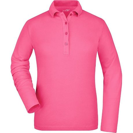 Polo manches longues FEMME JN180 - rose