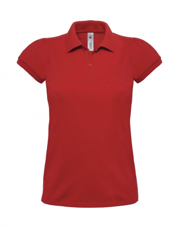 Polo lourd manches courtes - femme - PW460 - rouge