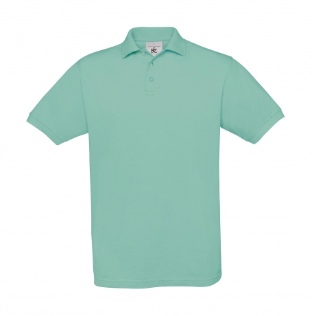 Polo manches courtes - homme - PU409 - bleu turquoise clair