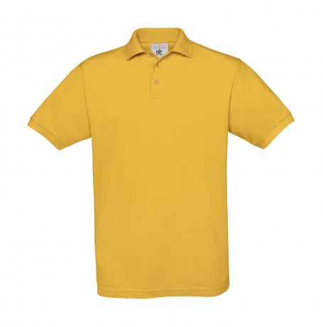 Polo manches courtes - homme - PU409 - jaune gold