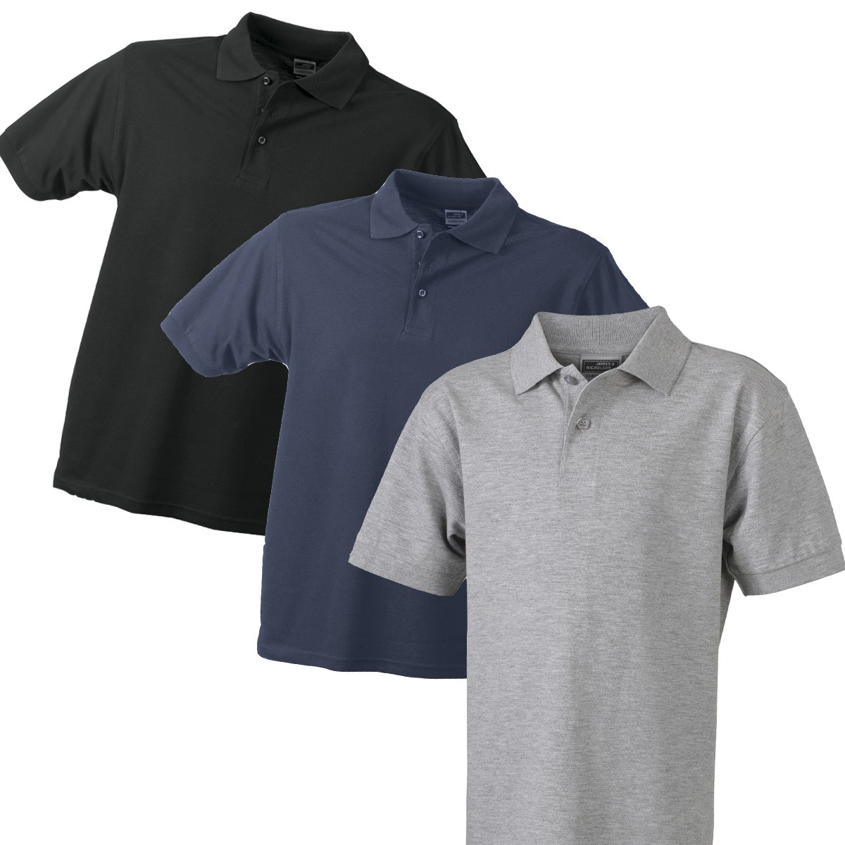 Polos James & Nicholson noirs homme