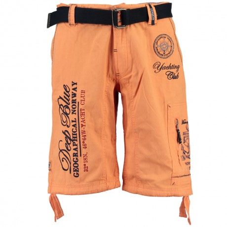 bermuda homme Pallancre - orange corail - style yachting club