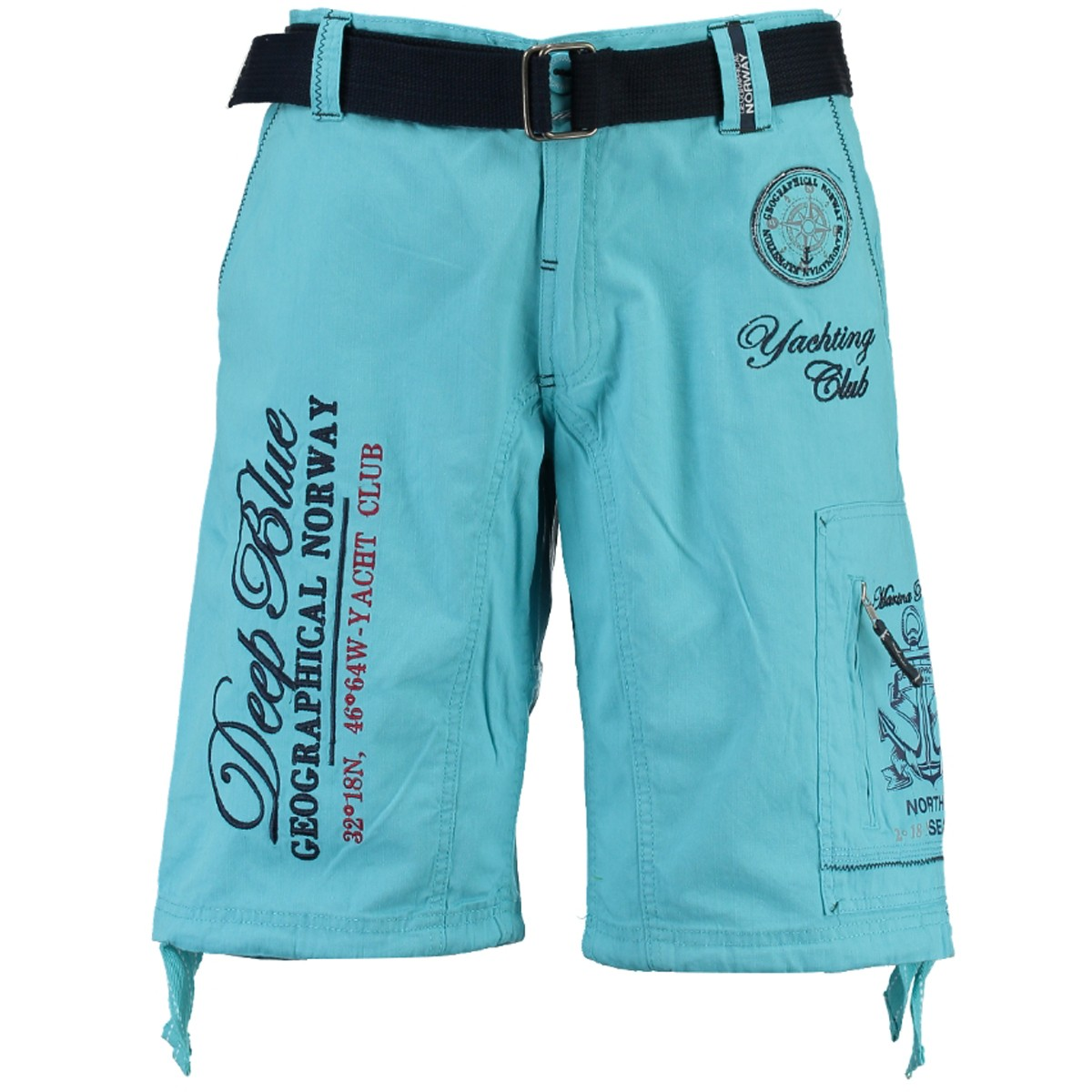 bermuda homme Pallancre - bleu turquoise - style yachting club