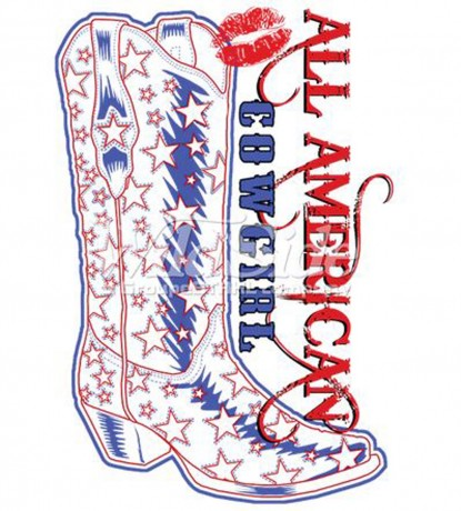 T-shirt femme manches courtes - Country Music Cowgirl boots - 18269