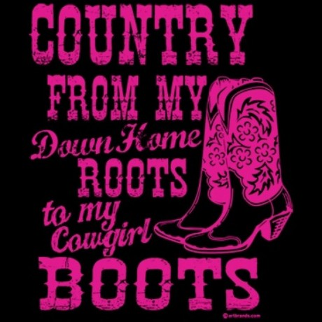 T-shirt femme manches courtes - Country Music Cowgirl boots - 8714