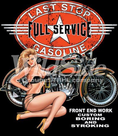 T-shirt FEMME manches courtes - Moto biker USA pin-up - 2298