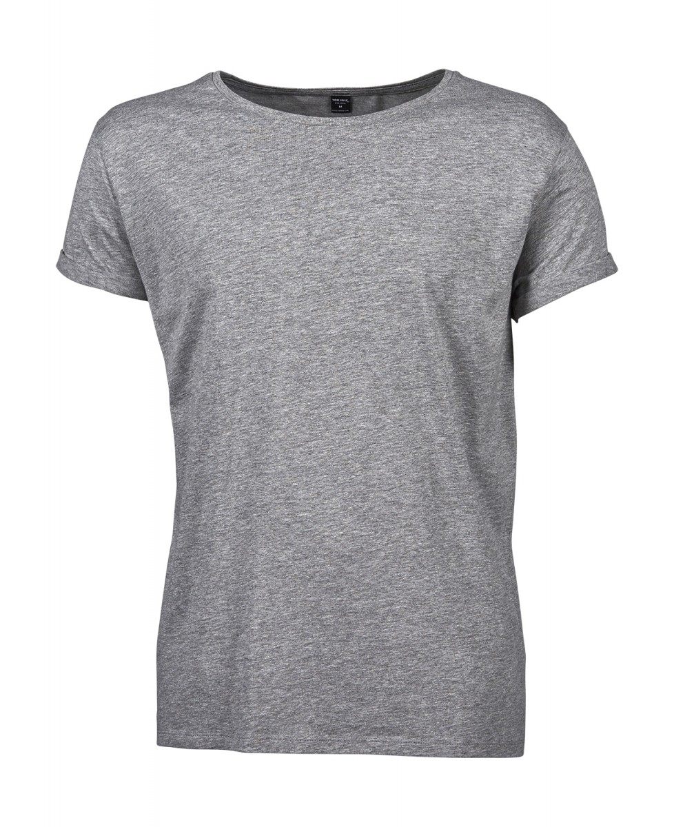 T-shirt-manches-courtes-Homme-manches-enroulees-5062-gris-chine