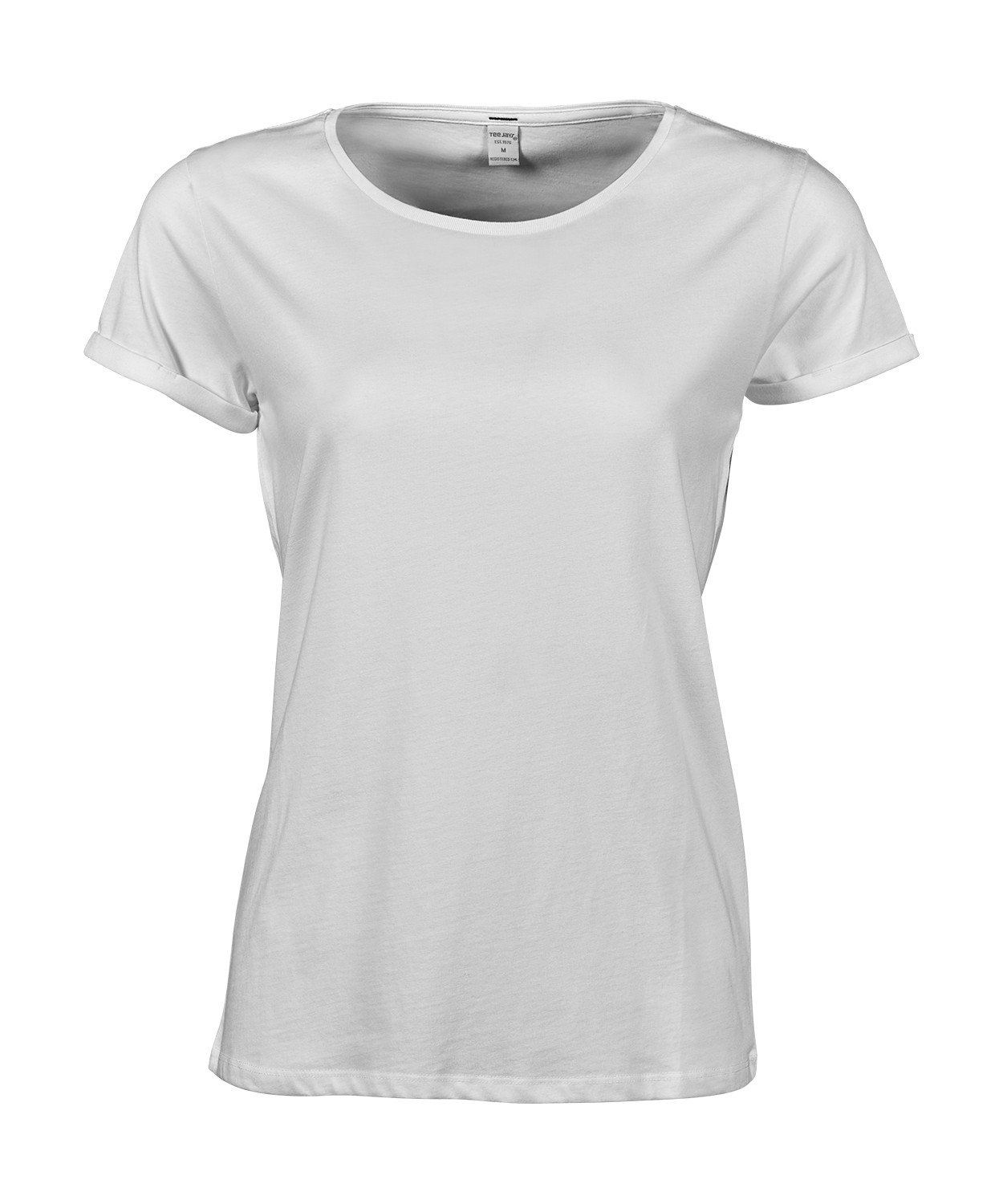 T-shirt-manches-courtes-Femme-manches-enroulees-5063-blanc