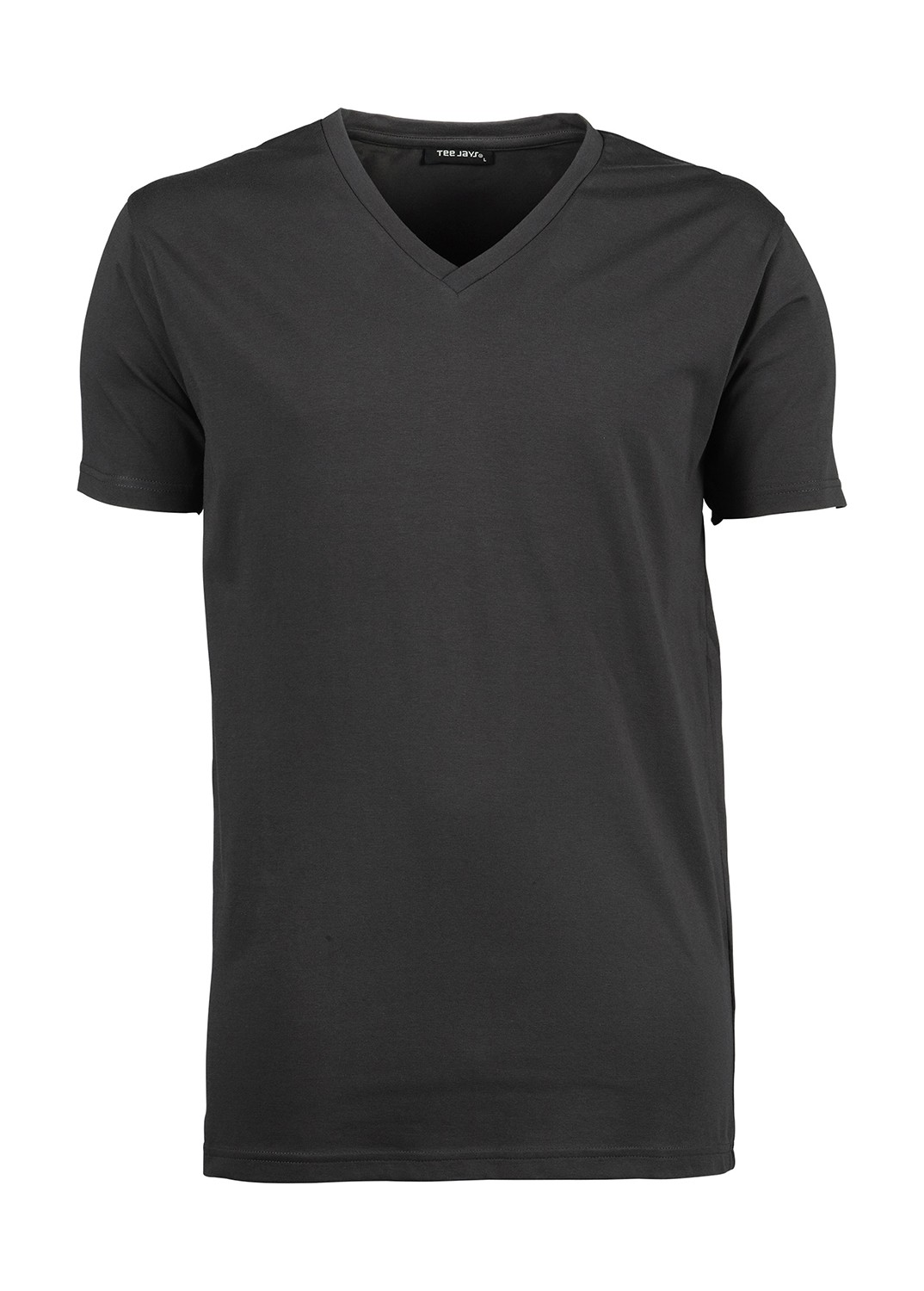 T-shirt-manches-courtes-Homme-col-V-stretch-401-gris