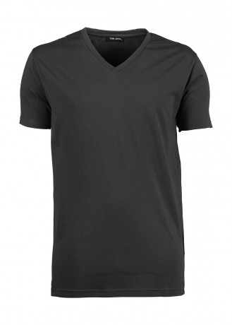 T-shirt manches courtes Homme col V stretch - 401 - gris