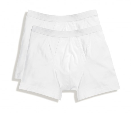 Lot 2 Boxers shorty Homme - coton - blanc - duo Pack 67-026-7