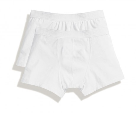 Lot 2 shorty Homme - coton - blanc - duo Pack 67-020-7