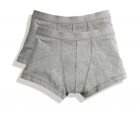 Lot 2 shorty Homme - coton - gris - duo Pack 67-020-7