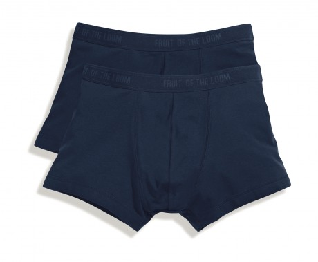 Lot 2 shorty Homme - coton - bleu marine - duo Pack 67-020-7
