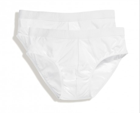 Lot 2 slips Homme - coton - blanc - duo Pack 67-018-7