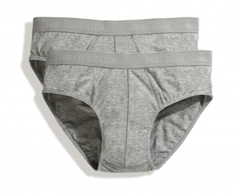 Lot 2 slips Homme - coton - gris - duo Pack 67-018-7