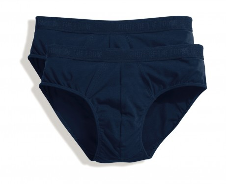 Lot 2 slips Homme - coton - bleu marine - duo Pack 67-018-7