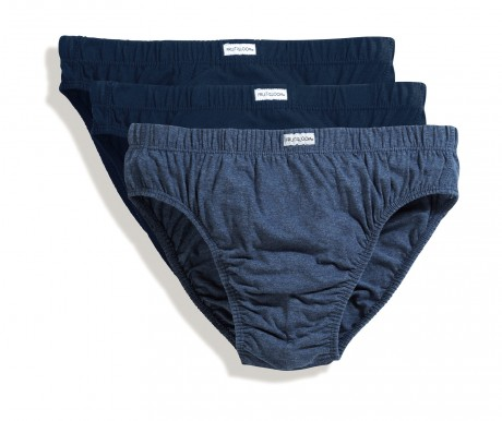 Lot 3 slips Homme - coton - bleu - trio Pack 67-012-6