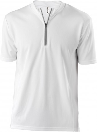Maillot cycliste homme - PA468 - blanc - manches courtes