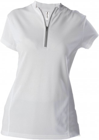 Maillot cycliste femme - PA469 - blanc - manches courtes