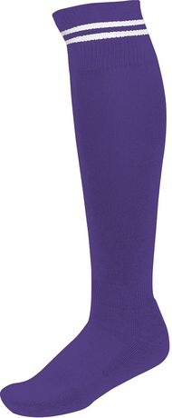 chaussettes sport - PA015 - violet rayure blanche
