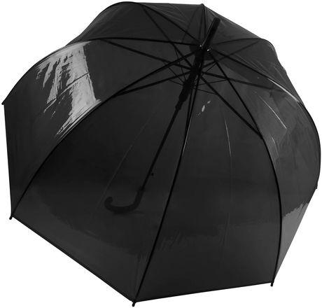 Parapluie canne transparent - KI2024  - noir