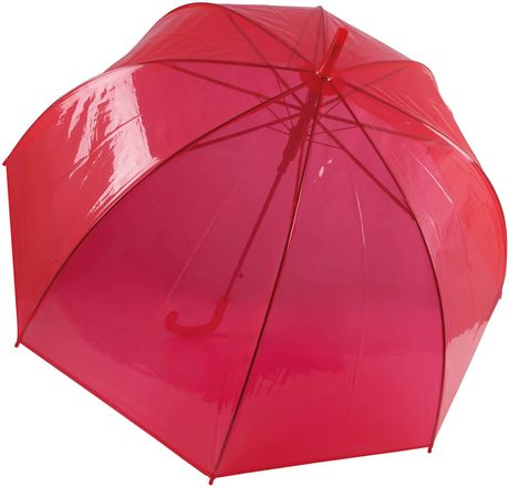 Parapluie canne transparent - KI2024  - rouge