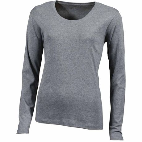 9f8f18f13 t-shirt femme large col rond coton manches longues