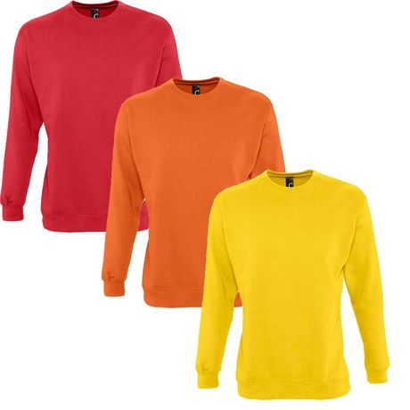 Lot 3 sweat-shirts rouge - jaune - orange