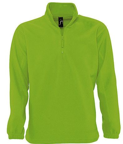 Sweat shirt polaire col zippé - 56000 - vert lime