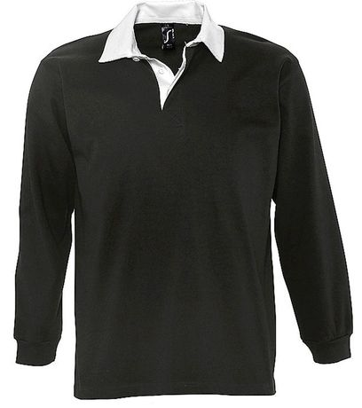 Polo rugby manches longues HOMME - 11313 - noir