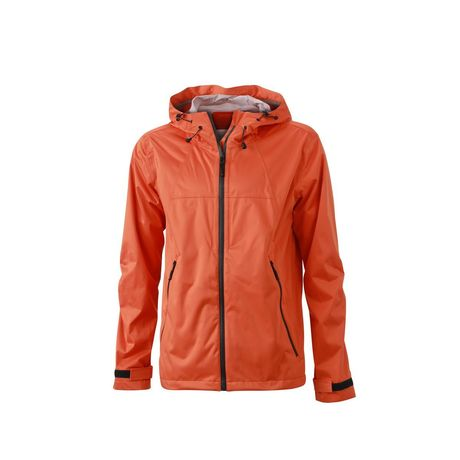 Veste softshell à capuche - homme JN1098 orange - coupe-vent imperméable