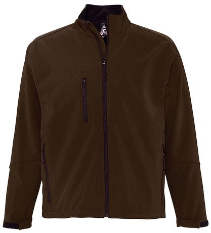 Veste softshell imperméable respirante homme 46600 - marron chocolat