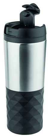 Mug thermos isotherme 450 ml  - 350-00 - noir gris argent