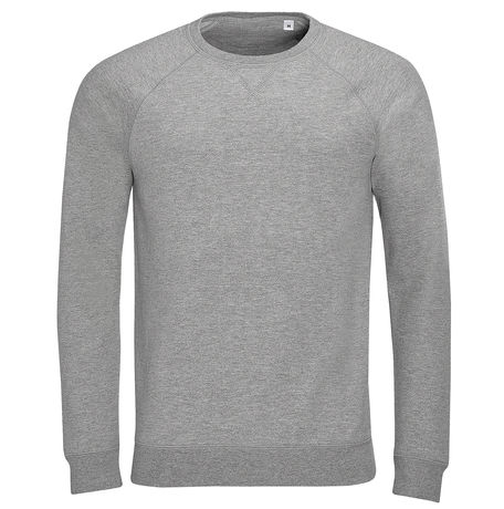 Sweat-shirt vintage pour homme - 01408 - gris chiné