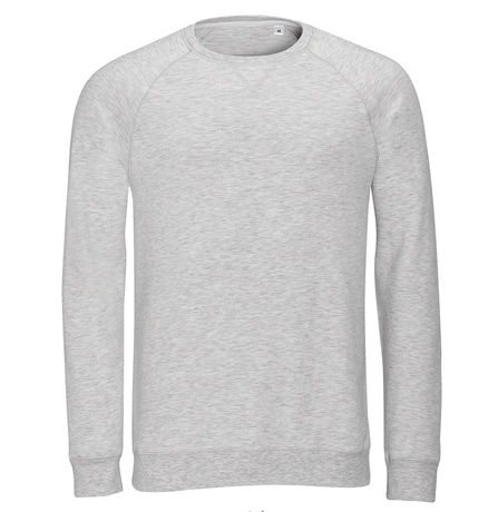 Sweat-shirt vintage pour homme - 01408 - blanc chiné