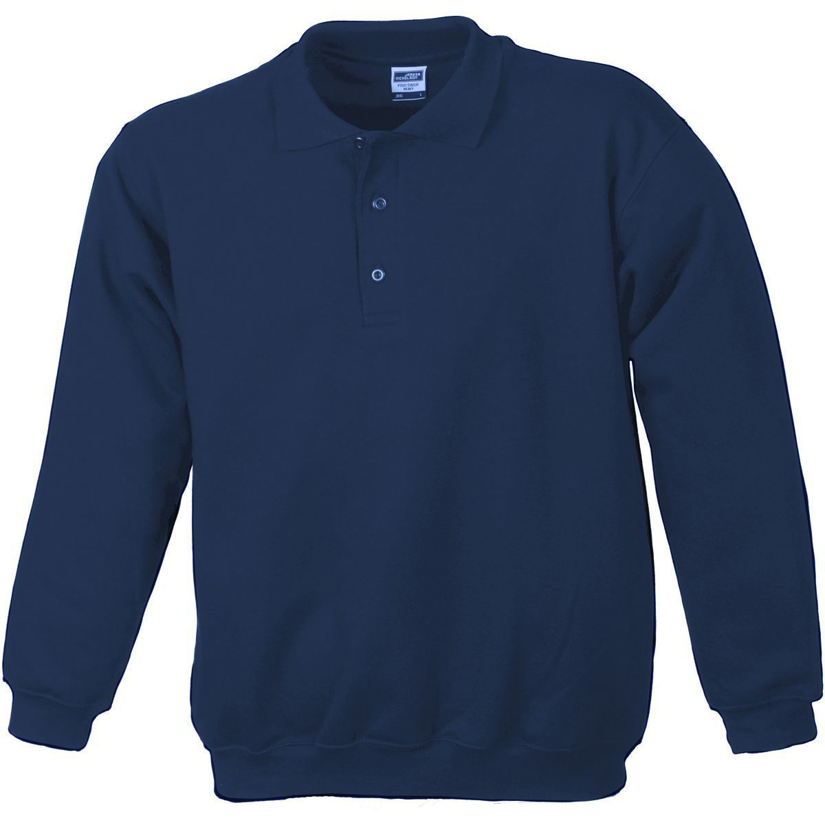 sweat-shirt col polo adulte mixte homme femme