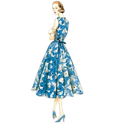 Patron Vogue 8788 Robes femme vintage 1950's fifties
