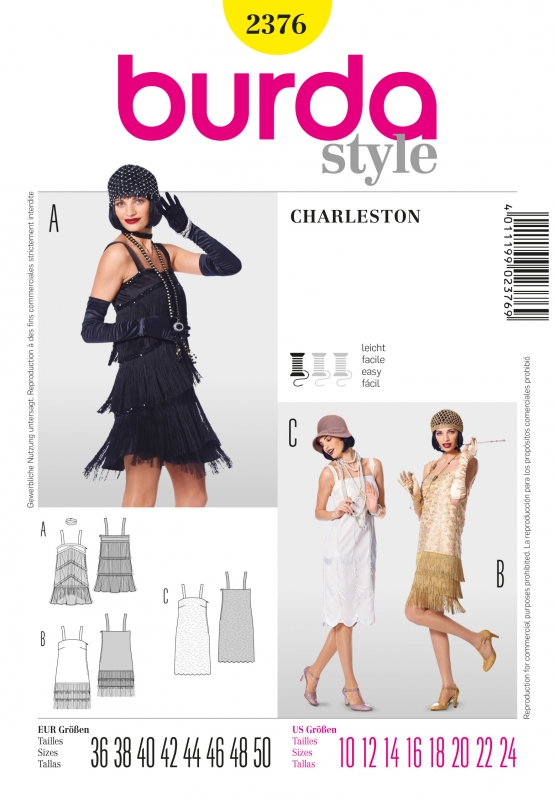Patron Burda Déguisement Robe Charleston