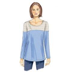 Patron Vogue 8950 Top & Blouse femme bicolore