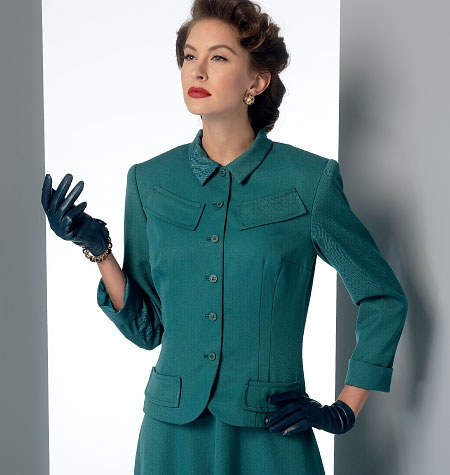 Patron Vogue 9052 Robe et Veste femme Vintage 1940's fourties