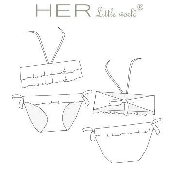 Robe de plage et maillot de bain Hawaïenne de HER little world