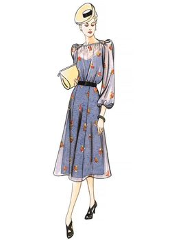 Patron Vogue 9295 Robe femme Vintage 1940's Forties