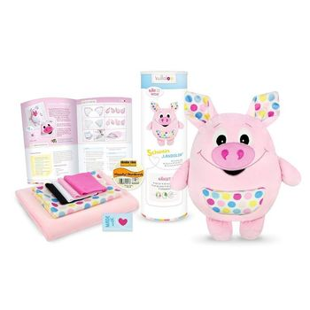 Kit couture peluche Doudou Cochon LANDOLIN rose