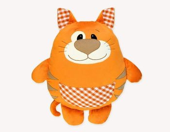 Coupon Tissu Peluche Minky SHORTY orange