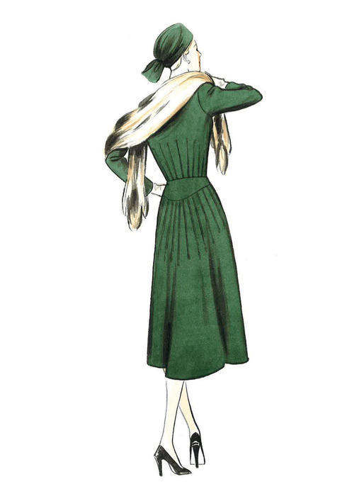 Patron Vogue 9346 Robe femme Vintage 1940's fourties