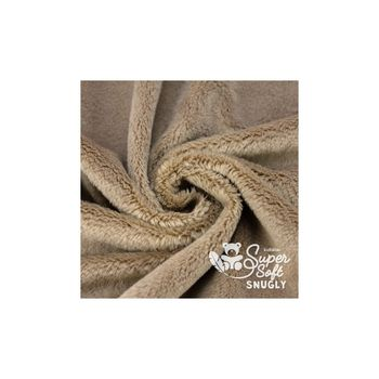Coupon Tissu Peluche SuperSoft SNUGLY taupe
