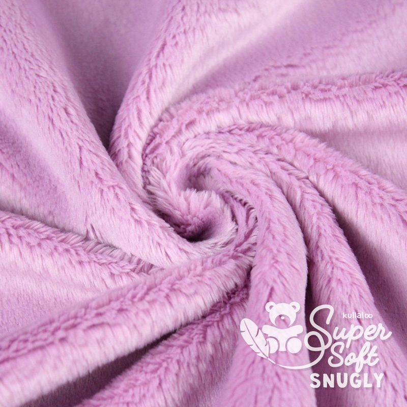 Coupon Tissu Peluche SuperSoft SNUGLY mauve