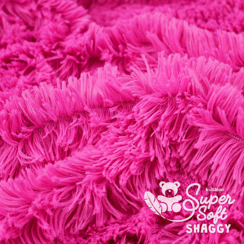 Coupon Tissu Peluche SHAGGY rose